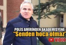"""Anadolu Üniversitesi'nde KHK ihraçlarına tepki gösteren akademisyenlere bir polis amiri """"Senden hoca olmaz. Biraz sonra göreceğiz"""" dedi. video"""