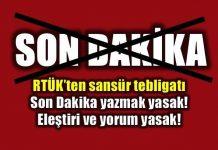 RTÜK'ten sansür tebligatı: Son dakika bile yasak!