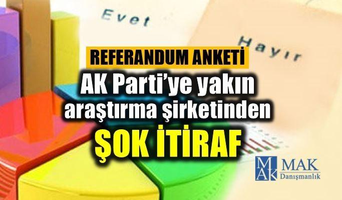 AK Parti'ye yakın MAK araştırma şirketinden referandum anketi