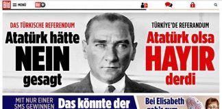 Alman Bild gazetesi: Atatürk yaşasaydı #Hayır derdi
