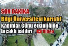 Bilgi Üniversitesi'nde Kadınlar Günü etkinliğine bıçaklı saldırı