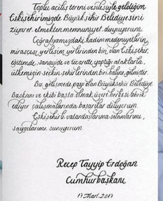 Cumhurbaşkanı Erdoğan'dan CHP'li Büyükerşen'e tebrik eskişehir