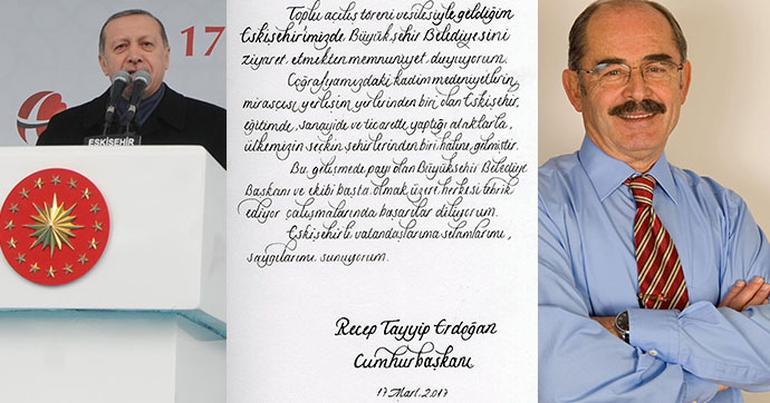 Cumhurbaşkanı Erdoğan'dan CHP'li Yılmaz Büyükerşen'e tebrik eskişehir