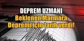 Deprem uzmanı beklenen Marmara Depremi için tarih verdi!