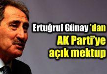 Ertuğrul Günay'dan AK Parti'ye 5 maddelik açık mektup
