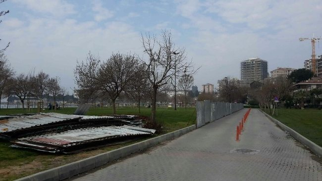 Fenerbahçe sahili yürüyüş ve bisiklet yolları kapatıldı ibb tenis kortu rant kadıköy