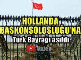 hollanda başkonsolosluğu türk bayrağı video