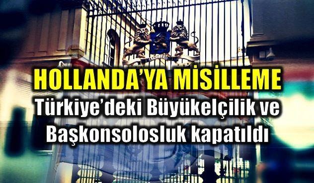 Türkiye Dışişleri Bakanlığı'ndan Hollanda'ya misilleme