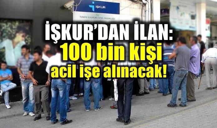 İŞKUR'dan ilan: 100 bin kişi işe alınacak! iş başvurusu iş ilanı sektör