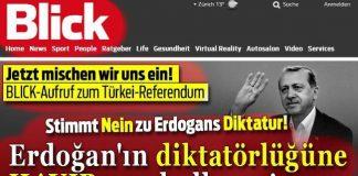 İsviçre'nin Blick gazetesi Türklere #Hayır çağrısı yaptı