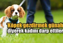 """Çanakkale'de parkta köpeğini gezdiren kadın, üç türbanlı kadın tarafından """"Köpek gezdirmek günah"""" diyerek darp edildi."""