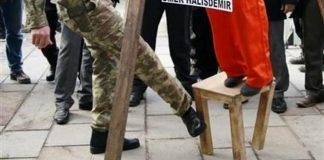 Ömer Halisdemir davası öncesi vatandaşların darağaçlı tepkisi