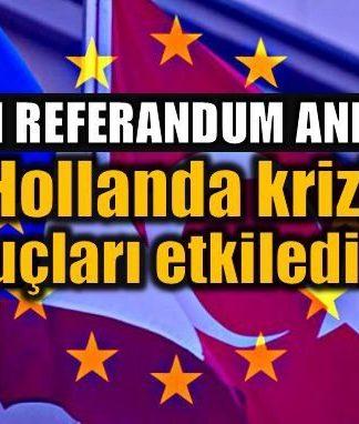 Referandum anketi: Hollanda krizi sonuçları etkiledi mi?