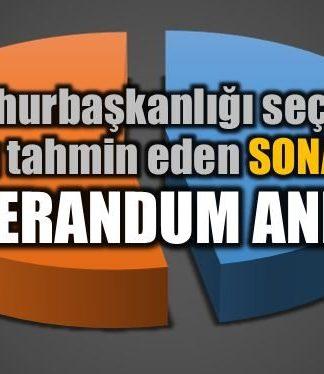 Referandum anketi sonuçları: Son anket SONAR'dan
