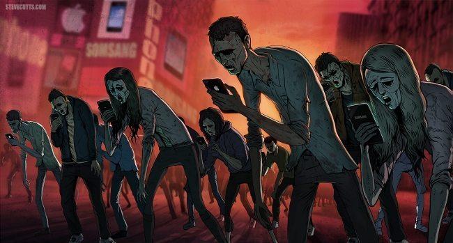 sosyal medya zombiler social media zombies zombi