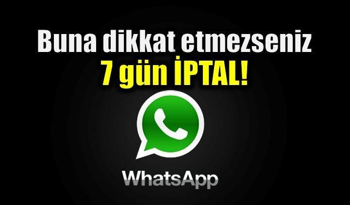 Whatsapp şifrenizi unutsanız 7 gün kullanamayacaksınız!