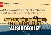 Yeni Akit'in Osmangazi Köprüsü'ndeki geçiş garantisini eleştirerek paylaşımda bulunması sosyal medyada dalga konusu oldu.