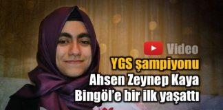 YGS şampiyonu Ahsen Zeynep Kaya, Bingöl'e bir ilk yaşattı