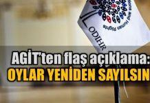 AGİT'ten flaş referandum açıklaması: Oylar yeniden sayılsın