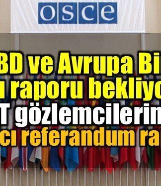 AGİT seçim gözlemcilerinden referandum raporu