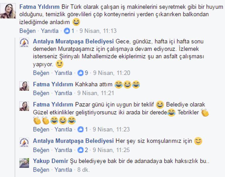 Antalya'nın Muratpaşa ilçesinde iş makineleri izlemeyi sevdiğini paylaşan vatandaşa belediyenin yanıtı sosyal medyada rekor kırdı.