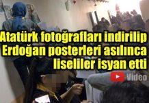Atatürk fotoğraflarının indirilmesine isyan eden liseliler