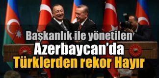 Azerbaycan'da yaşayan Türklerden rekor Hayır