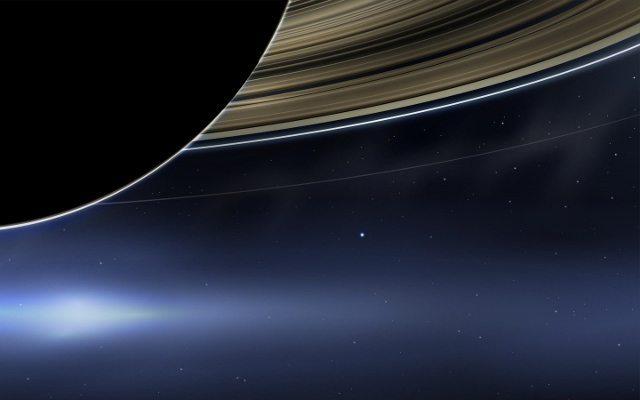 Cassini Uzay Aracı, Satürn'den ilk kez Dünya'nın fotoğrafını çekti