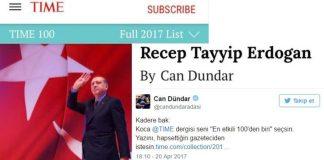 TIME 100 etkili isim listesine giren Erdoğan'ı Can Dündar yazdı