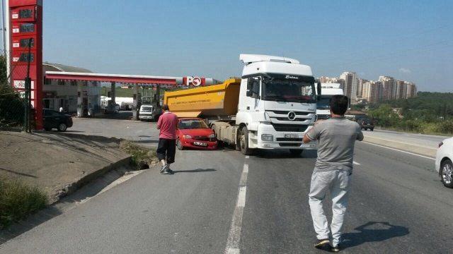 hafriyat kamyonu kaza
