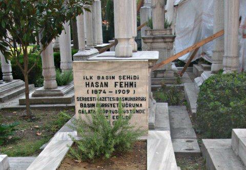 hasan fehmi bey ilk basın şehidi mezarı meşrutiyet