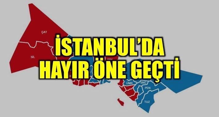 SON DAKİKA: İstanbul'da'Hayır' öne geçti