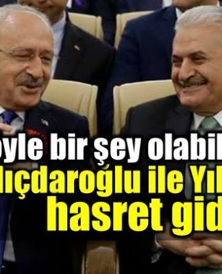Şok görüntüler: Kılıçdaroğlu ile Yıldırım hasret giderdi
