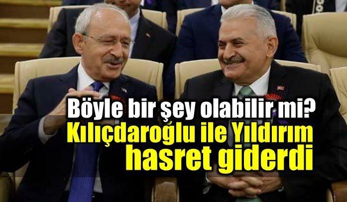 AYM töreninde Kılıçdaroğlu ile Yıldırım hasret giderdi