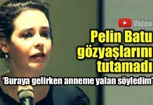 Pelin Batu 'Hayır' derken gözyaşlarını tutamadı