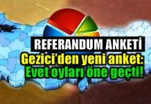 Referandum anketi sonuçları: Evet oyları öne geçti!