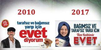 Referandum için 'Evet' afişleri ve reklamlar üzerine