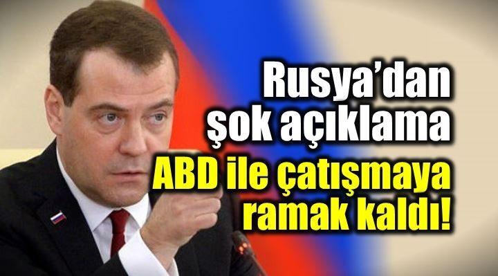 Rusya Başbakanı Dmitri Medvedev, ABD'nin Suriye saldırısının ardından yaptığı açıklamada 'ABD ile çatışmaya ramak kaldı' ifadesini kullandı.