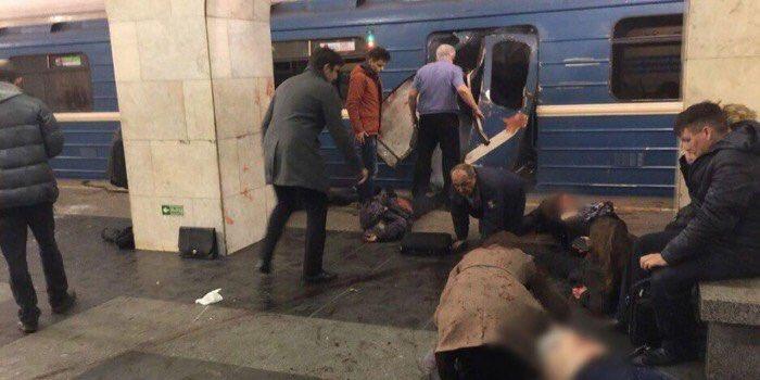 St. Petersburg kentinde metroda patlama
