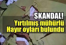 Suruç'ta yırtılmış mühürlü Hayır oyları bulundu