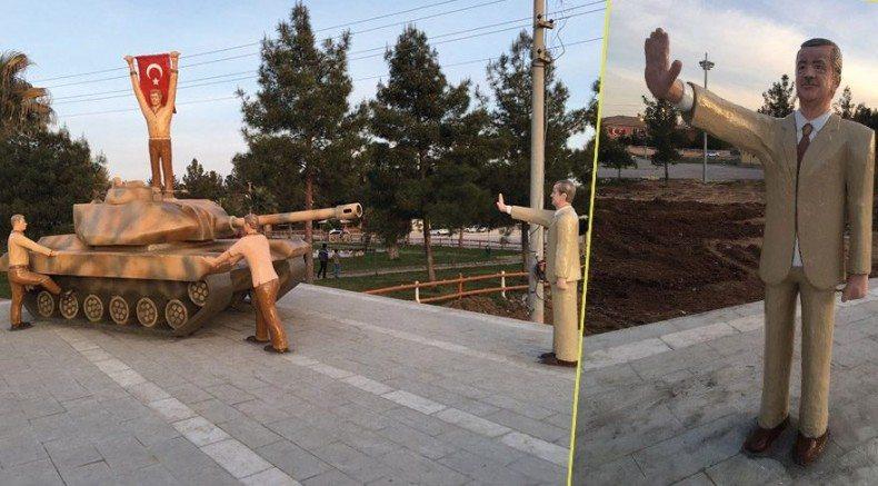 Tank durduran Erdoğan ve 15 Temmuz anıtı