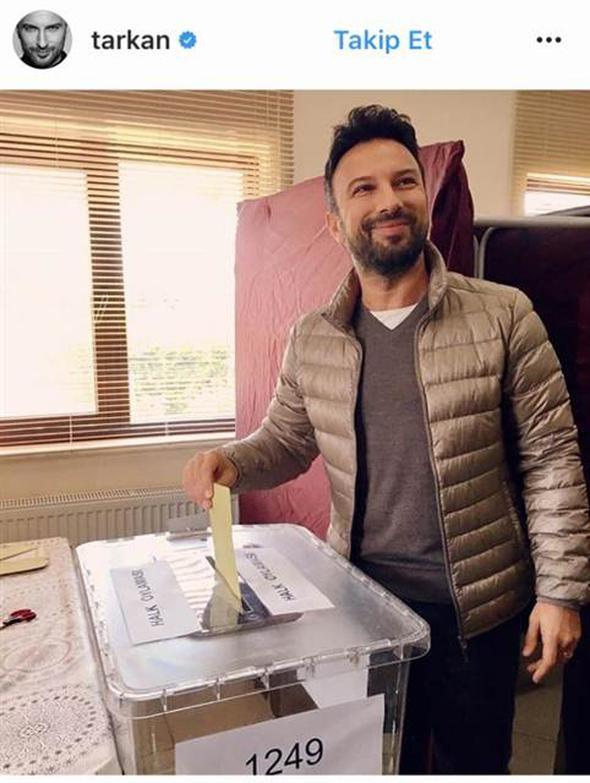 tarkan referandum oy kullandı