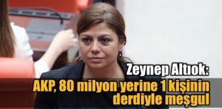 Zeynep Altıok: AKP 80 milyon yerine 1 kişinin derdiyle meşgul