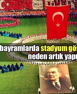 19 Mayıs Gençlik ve Spor Bayramı ve ulusalcılık üzerine stadyum gösterileri
