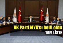 AK Parti yeni MYK'sı belli oldu: Tam liste