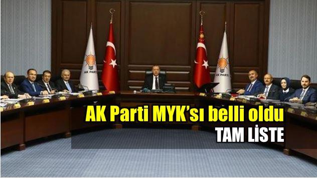 AK Parti MYK'sı belli oldu: Tam liste