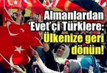 Almanlar'dan Almanya'da yaşayan 'Evet'çi Türklere mektup