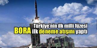 BORA Füzesi ilk deneme atışı Sinop'ta yapıldı