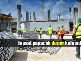 Türkiye'de demir sıkıntısı inşaat sektörüne zarar verebilir!