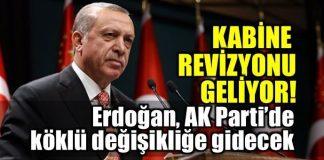 Erdoğan AK Parti'de ve kabinede köklü değişikliğe gidecek